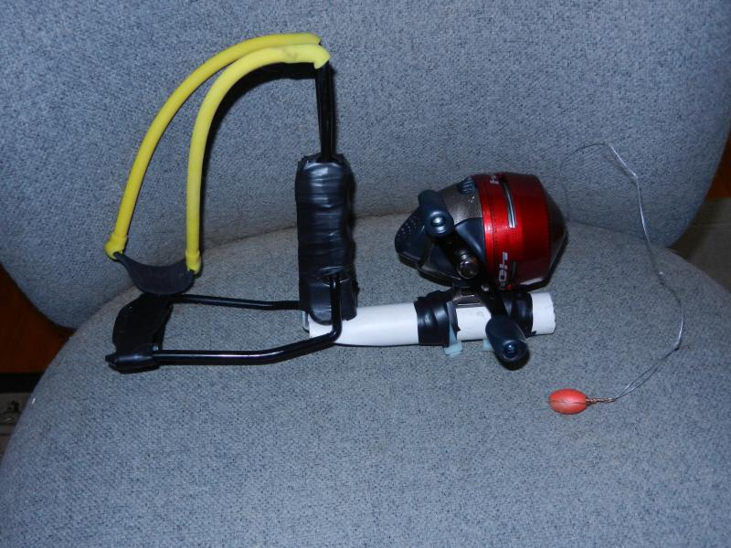 how to make a fishing line launcher